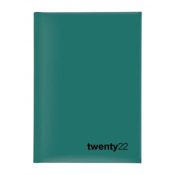 Biella Geschäftsagenda Colorful 2022, 14.5 x 20.5 cm, petrol, 1 Woche auf 2 Seiten, viersprachig