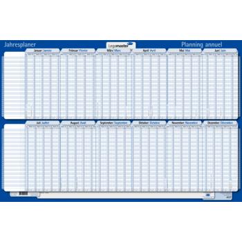 Legamaster Kartonjahresplaner 2022, im Halbjahresformat, 60 x 90 cm