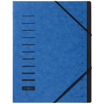 Pagna Ordnungsmappe 12-teilig, blau