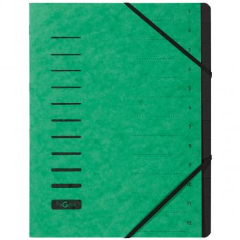 Pagna Ordnungsmappe 12-teilig, grün