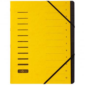 Pagna Ordnungsmappe 12-teilig, gelb