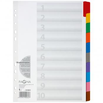 Pagna Karton-Register Blanko 10-teilig, weiss