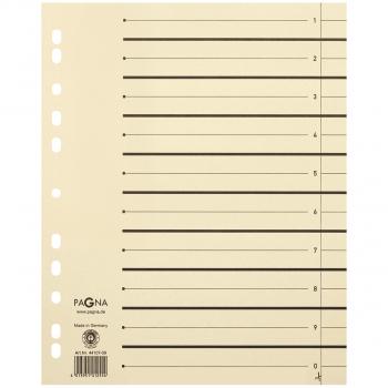 Pagna Trennblätter im Format A4, beige, Pack à 100 Stück