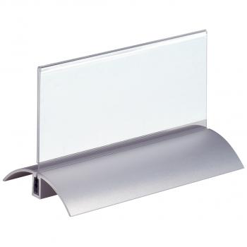2 Durable Tischnamensschilder mit Fuss 15 x 6.1 cm
