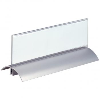 2 Durable Tischnamensschilder mit Fuss 21 x 6.1 cm