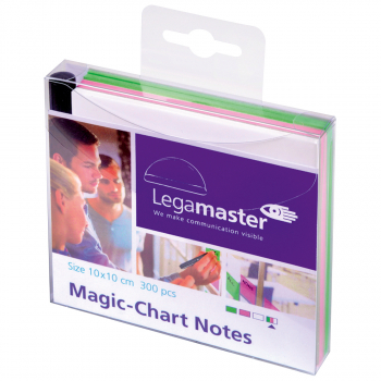300 Legamaster Magic-Chart Notes assortiert, 10 x 10 cm