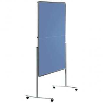 Legamaster Moderationswand filzbespannt, blau/grau, 120 x 150 cm