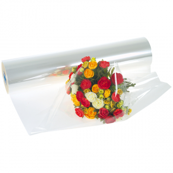 Blumenfolie 50 cm x 500 m, transparent, Stärke 25 Mikron