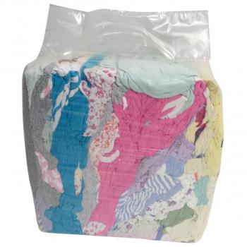 Putzlappen aus Baumwoll-Trikot hellbunt Premium, Pack à 5 kg