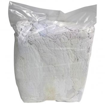 Putzlappen aus Baumwoll-Trikot weiss Premium, Pack à 5 kg