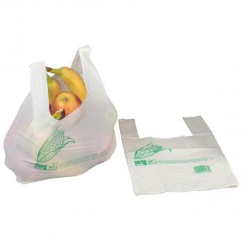 Bioshopper naturweiss, 24 x 13 x 40 cm, Karton à 500 Stück, geblockt zu 50 Stück