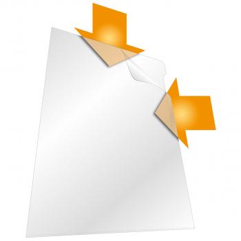 Durable Sichthüllen genarbt, oben & seitlich offen, transparent, Pack à 100 Stück