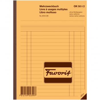 Favorit Mehrzweckbuch, blau/weiss,  Auswahl-Bestellung-Lieferschein-Rechnung-Quittung