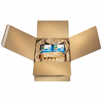 Multi-Versandboxen mit 2 Selbstklebebänder + Aufreissband , 1-wellig, 284x184x167 mm, Grösse 3, Bund à 10 Stück