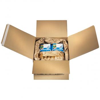 Multi-Versandboxen mit 2 Selbstklebebänder + Aufreissband , 1-wellig, 350x250x135 mm, Grösse 7, Pack à 10 Stück