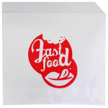 Kebabbeutel aus Papier, weiss mit Aufdruck, Karton à 1'000 Stück
