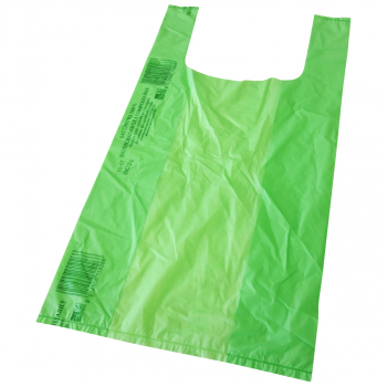 Bioshopper grün, 27 x 13 x 50 cm, Karton à 500 Stück, geblockt zu 50 Stück