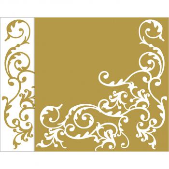 Mank Airlaid Servietten POMP weiss/gold, 40 x 40 cm, 1/4 Falz, Pack à 50 Stück