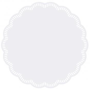 Deckchen/Untersetzer UNI weiss, 8-lagig, rund, Ø 9 cm