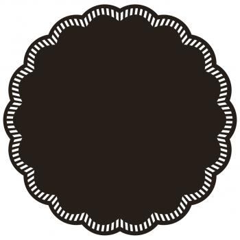Deckchen/Untersetzer UNI schwarz, 9-lagig, rund, Ø 9 cm