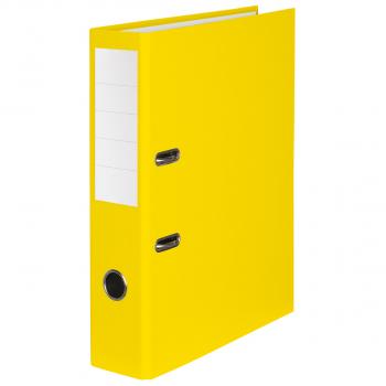 Color-Ordner mit 7 cm Rückenbreite, gelb