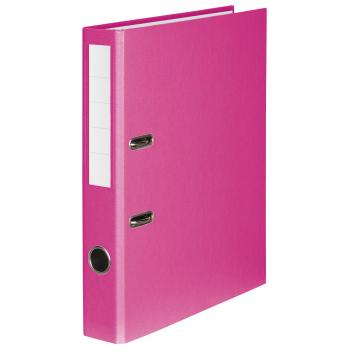 Color-Ordner mit 4 cm Rückenbreite, rosa