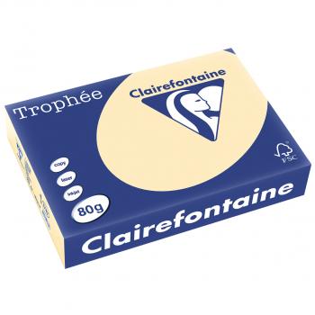 Trophée Kopierpapier farbig pastell A4, 80g/m2, Packung zu Blatt, chamois