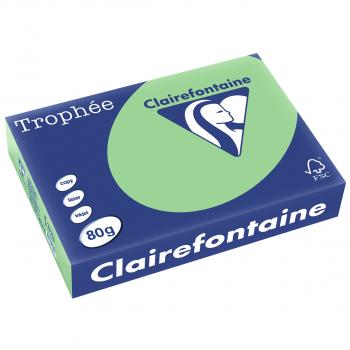 Trophée Kopierpapier farbig pastell A4, 80g/m2, Packung zu 500 Blatt, grün