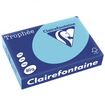 Trophée Kopierpapier farbig pastell A4, 80g/m2, Packung zu Blatt, blau