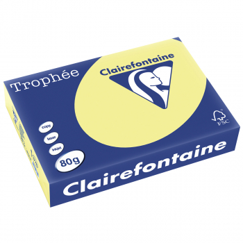 Clairefontaine Trophée Farblaser-/Farbkopierpapier in A4, 80 g/m², Pack à 500 Blatt, hellgelb