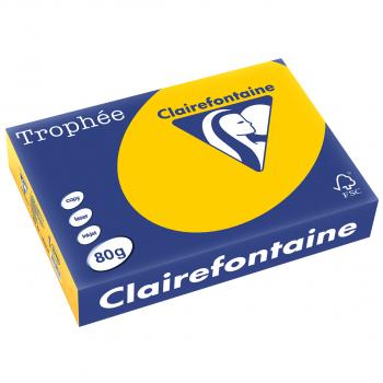 Trophée Kopierpapier farbig intensiv, A4, 80 g/m2, Packung zu 500 Blatt, sonnengelb