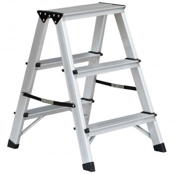 Bockleiter mit 3 Stufen für max. 150 kg Belastungsgewicht