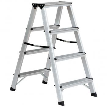 Bockleiter mit 4 Stufen für max. 150 kg Belastungsgewicht