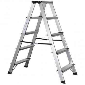 Bockleiter mit 5 Stufen für max. 150 kg Belastungsgewicht