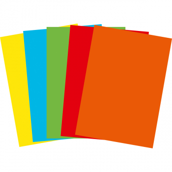 FocusShop Farbiges Papier colours in A4, 80 g/m², Pack à 500 Blatt, assortiert intensiv