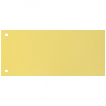 Trennstreifen 10.5 cm x 23.5 cm, gelb, Pack à 100 Stück