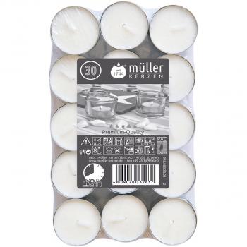 Teelichter in Premium-Qualität, Durchmesser 38 mm, Pack à 30 Stück