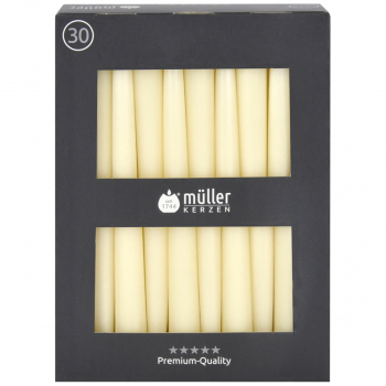 Spitzenkerzen in Premium-Qualität, vanille, Pack à 30 Stück