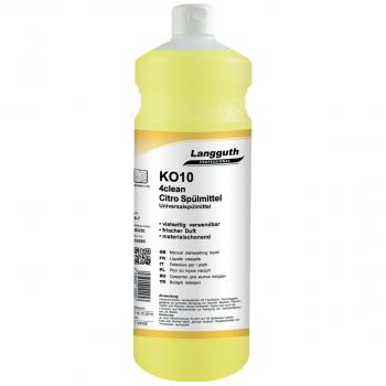 Geschirrspülmittel Citro 4clean KO10, 6 Flaschen mit je 1 Liter