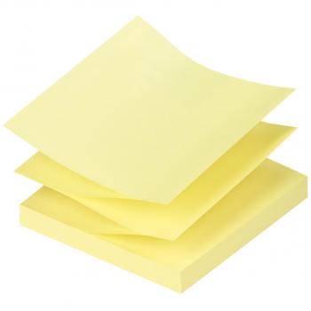Q-Connect Z-Quick Haftnotizen gelb 76 mm x 76 mm, Pack à 12 x 100 Blatt