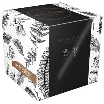 Mouchoirs cosmétiques Wepa 3 couches, extra-blanc, 20.8 x 21 cm, boîte de 60 pièces