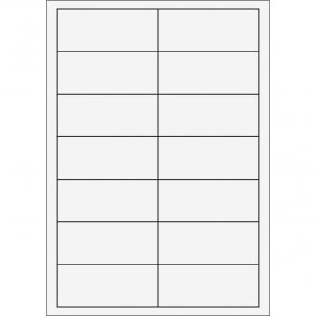 Etiketten A4, weiss, 100 Blatt, 95 x 40 mm, Pack à 100 Stück