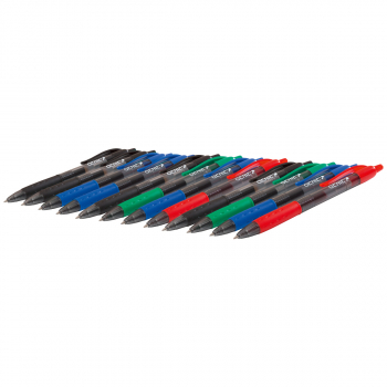GENIE Gelschreiber 0.5 mm, Schreibfarbe assortiert, Pack à 12 Stück