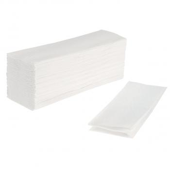 FocusShop Papierhandtücher 2-lagig, hochweiss, Z-Falzung, Karton à 3'750 Stück