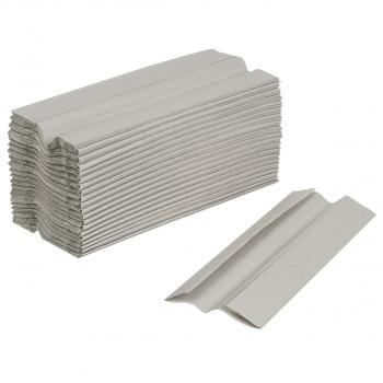 FocusShop Recycling-Papierhandtücher 1-lagig, grau, C-Falzung, Karton à 4'000 Stück