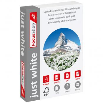 FocusShop Kopierpapier/Universalpapier just white in A4, 80 g/m², Pack à 500 Blatt