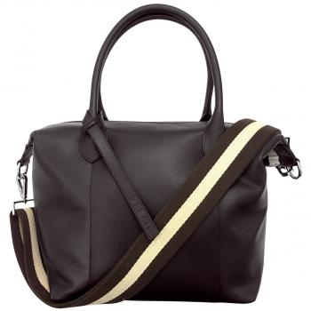 GREAT! Businesshandtasche aus feinstem Leder, dunkelbraun