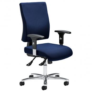 Bürodrehstuhl Comfort R Deluxe inkl. Armlehnen, dunkelblau