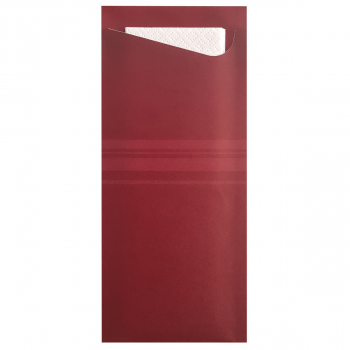 Bestecktaschen 8 cm x 19 cm bordeaux, Karton à 350 Stück