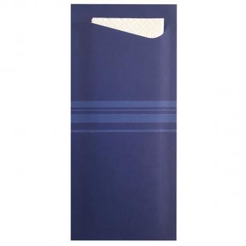 Bestecktaschen 8 cm x 19 cm navyblau, Karton à 350 Stück